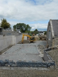 This view from the playground looks across showing the rear of the building before the new classrooms were built